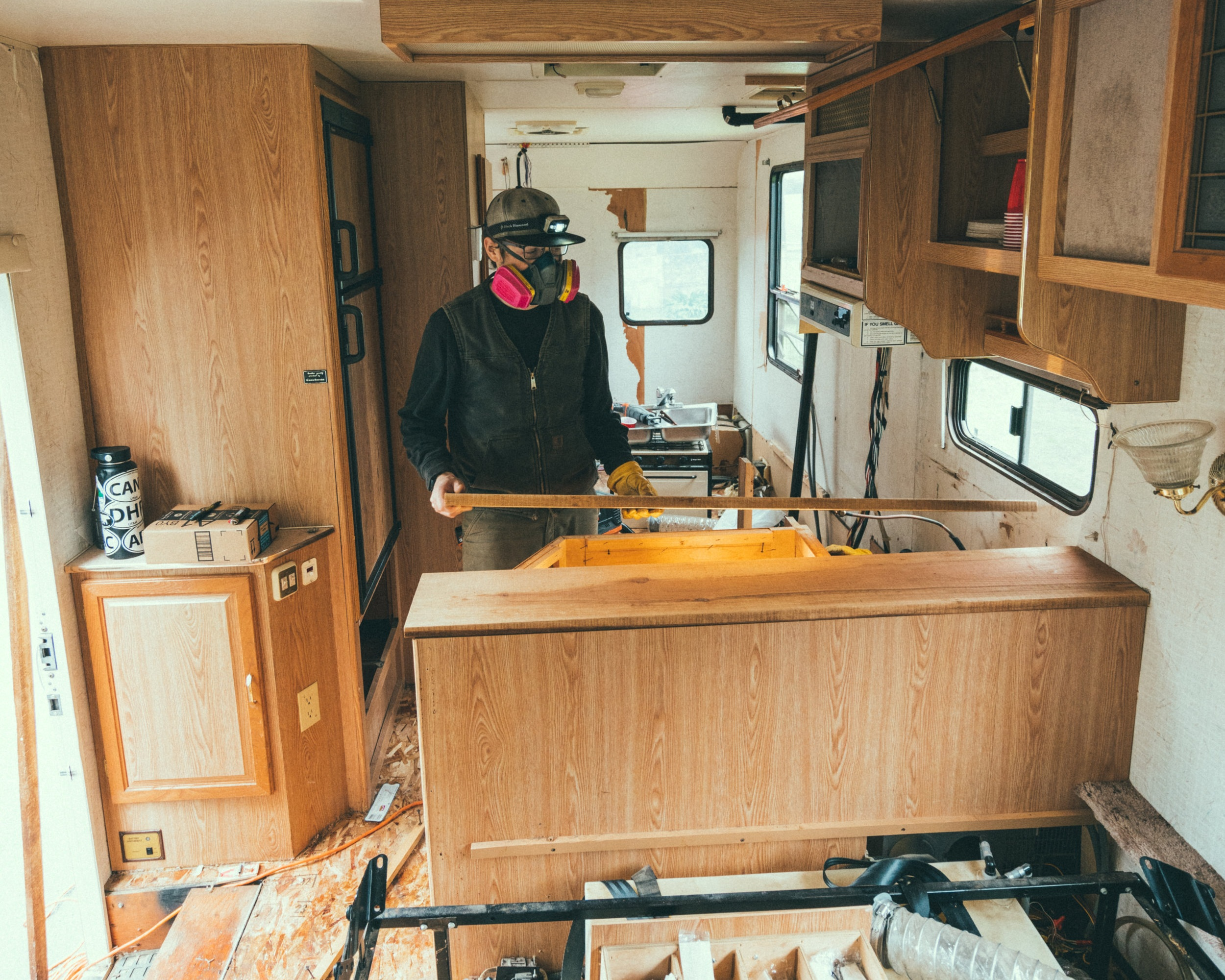 Josh Building the Studio - Josh spent an entire month designing and building our studio on wheels.