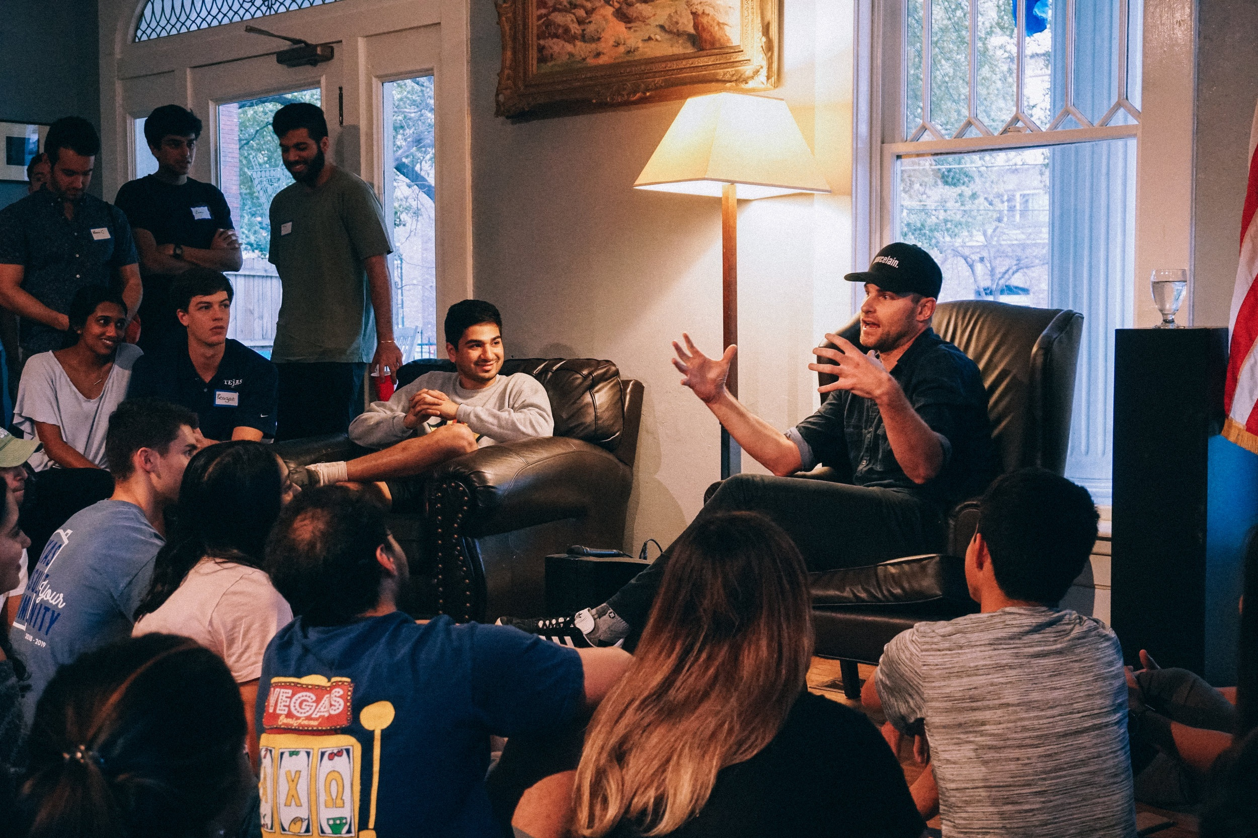Tejas Coffees - The Tejas Club hosts coffees featuring influential speakers weekly on Thursday evenings at the Tejas House (2600 Rio Grande Street). Past speakers include Mack Brown, Andy Roddick, Beto O'Rourke, and Matthew McConaughey.