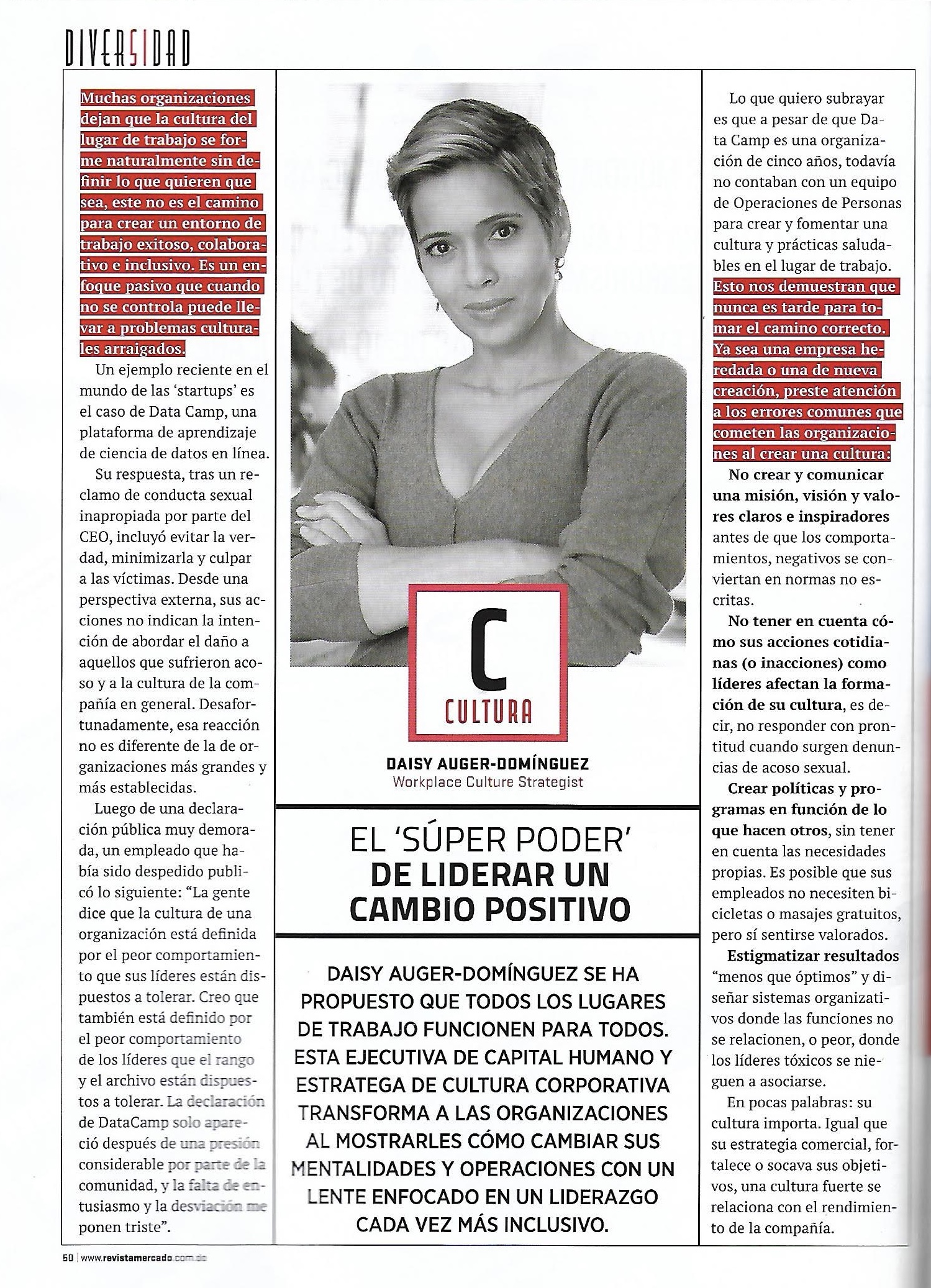 Revista Mercado Best Companies to Work For in the Dominican Republic 2019 - A strong culture correlates with performance, impacts happiness and satisfaction. This article highlights a few mistakes to avoid.