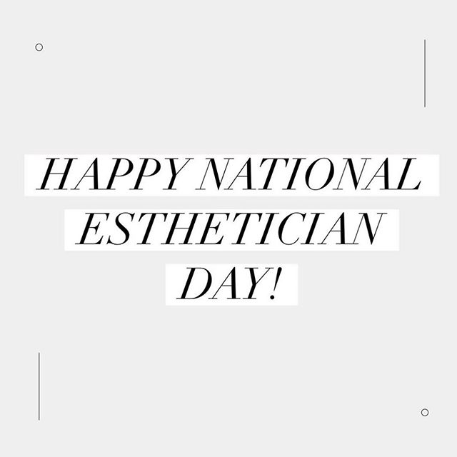 Happy #nationalestheticianday to all my skin babes! ✨ I'm forever grateful to be apart of this gorgeous industry of ours - getting to live what we love each day.