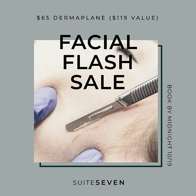 Dermaplane Facial FLASH SALE to celebrate 🎉🎉🎉 joining an amazing group of boss babes in Chandler, AZ within Gather Loft. Book by tomorrow night - Grab this major sale before limited appointment times are filled. ✨ @gatherloft @elysecmartinez @smilesthatslay @studioconceal #chandleraz #beauty #skincare #isclinical #dermaplanefacial #glowingskin #makeupready #nomakeup #stretchmarkcamouflage #teethwhitening #autumnspice #appleciderfacial . . Tag a friend or share this post for $5 off your second service with me. (In Gilbert or Chandler) Extra $5 if you do both 🙌🏻