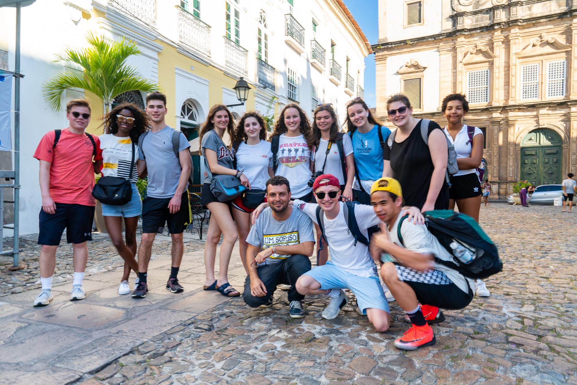 Our group with our Salvador da Bahia photographer