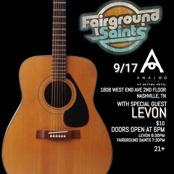 Nashville! We're going to be playing a show with one of our favorite bands @fairgroundsaints on 9/17 at Analog inside the Hutton Hotel. It's gonna be a night you don't wanna miss so make plans to be there!! #nashville #singersofinstagram #supportlivemusic #harmonies #instabands