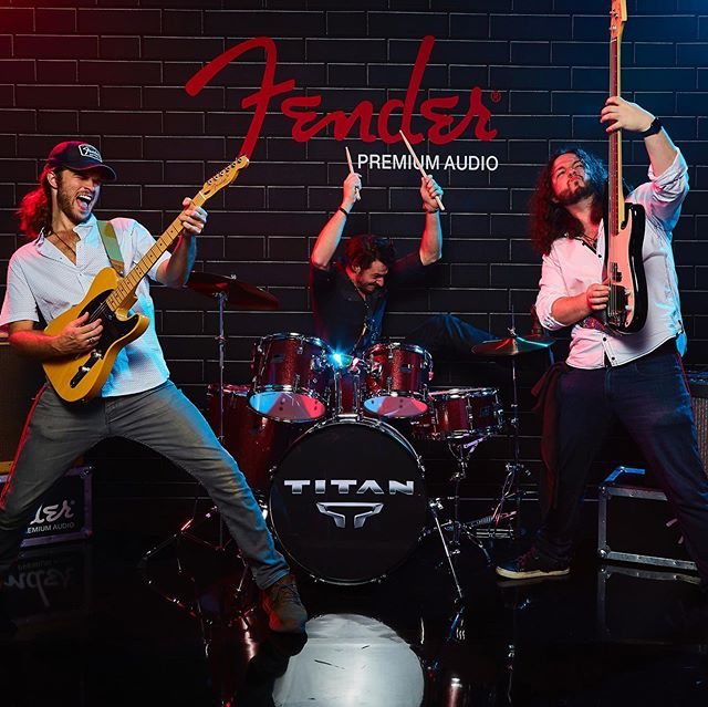 Thanks to our friends at @fender and @nissan for having us out to their event yesterday! We had a blast jamming for you guys and can't wait to see what y'all are cooking up next! #bandsofinstagram #fender #nissantitan #nissan @nissanusa #fenderpremiumaudio #photoshoot