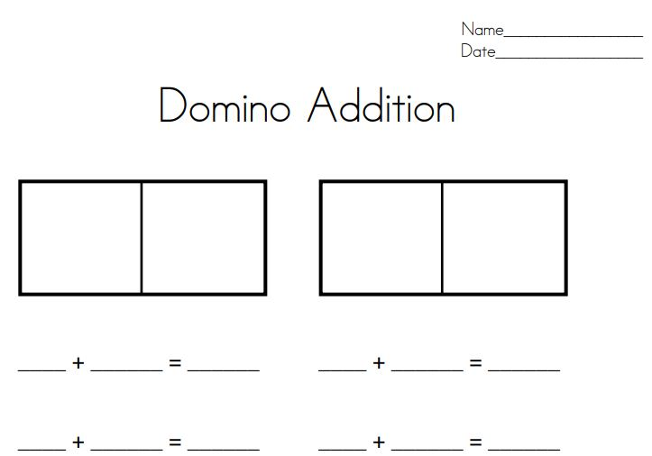Free Practice Resource: Illustrative Math- Commutative Property Dominoes - Click on the image to open a PDF, including directions, for a commutative property practice game using dominoes to reinforce the visual aspect.