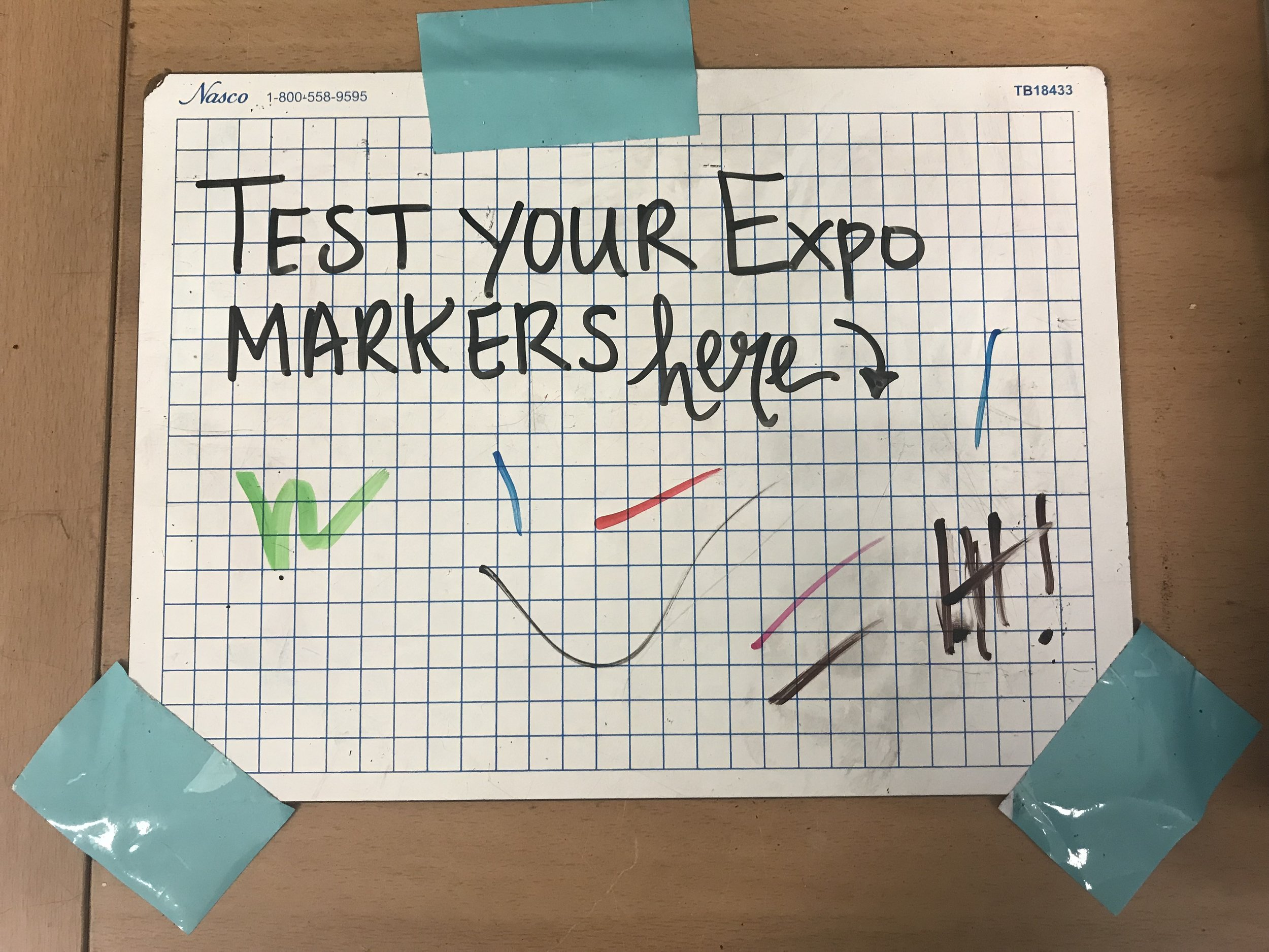 Give Them a Place to Test Those Expo Markers - yunderstandmath.com