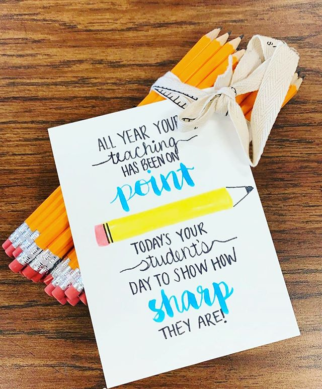 Keeping the positive vibes flowing for these last nine days!✏️ 💯 Each of the pencils had a motivational message for our students testing  today! #mathisfun #math #iteachmath #testing #statetesting #teacher #teachersfollowteachers #positivevibes