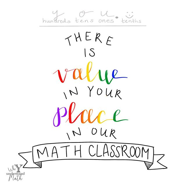 You have value. And don't you forget it. #iteachmath #yunderstandmath #mathteacher #mathclassroom #mathteachersofinstagram #tftpickme