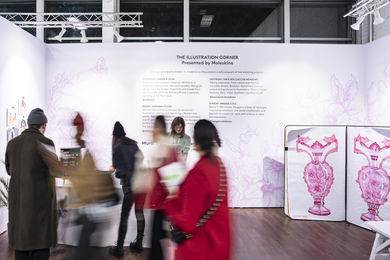 THE ILLUSTRATION CORNER  with leading illustrators Ludmila Leiva, Adriana Picker, Sara Boccaccini Meadows and Maggie Coles.