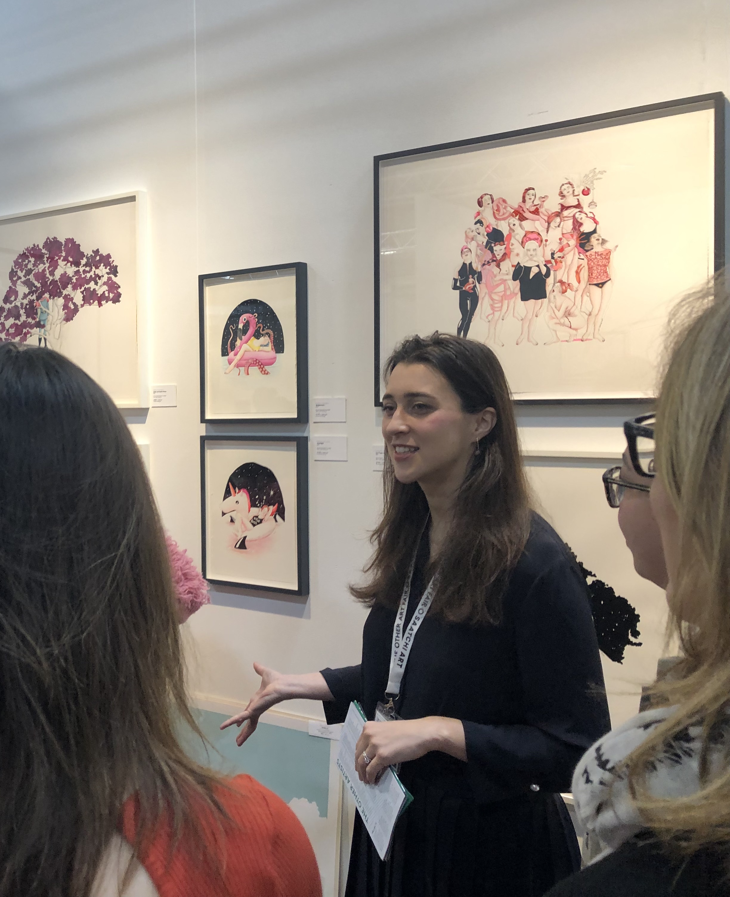 Discussing the work of  Delphine Lebourgeois