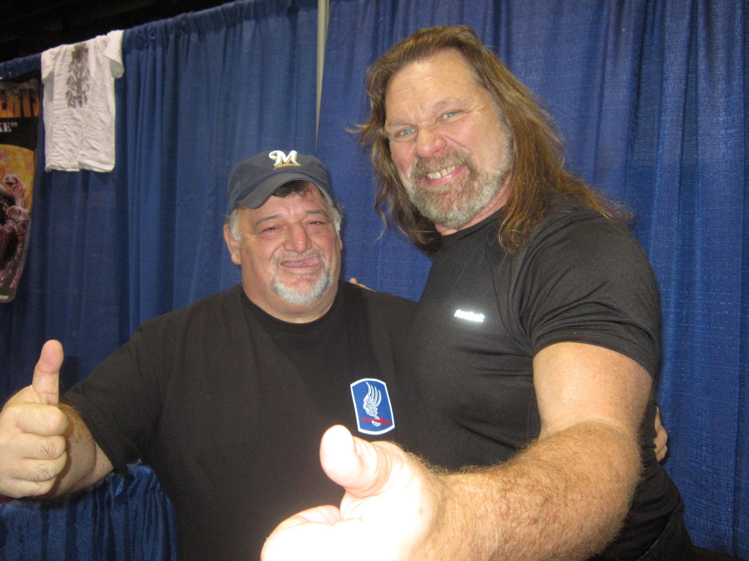 Bull with WWE Legend Hacksaw Jim Duggan