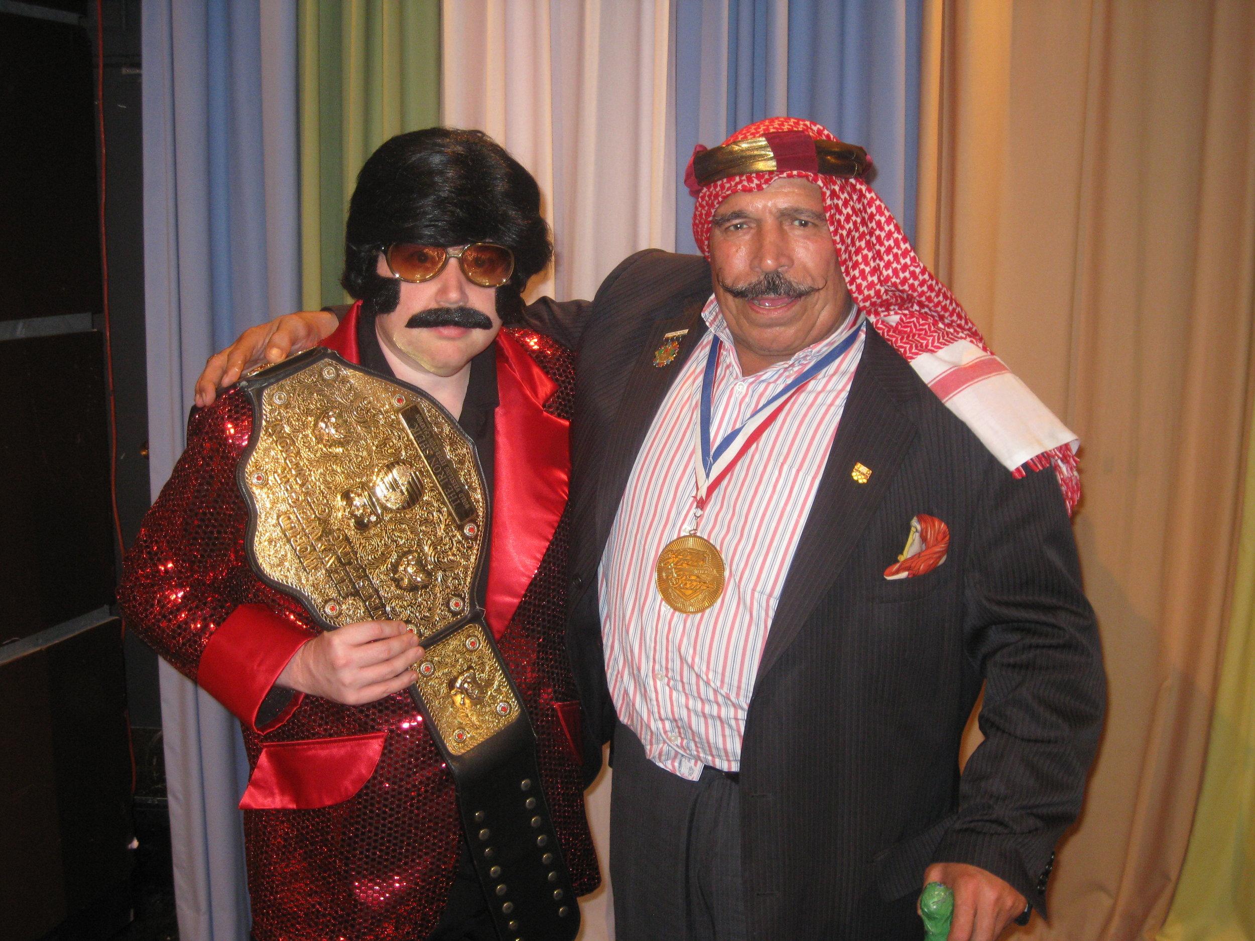TC with WWE Legend The Iron Sheik