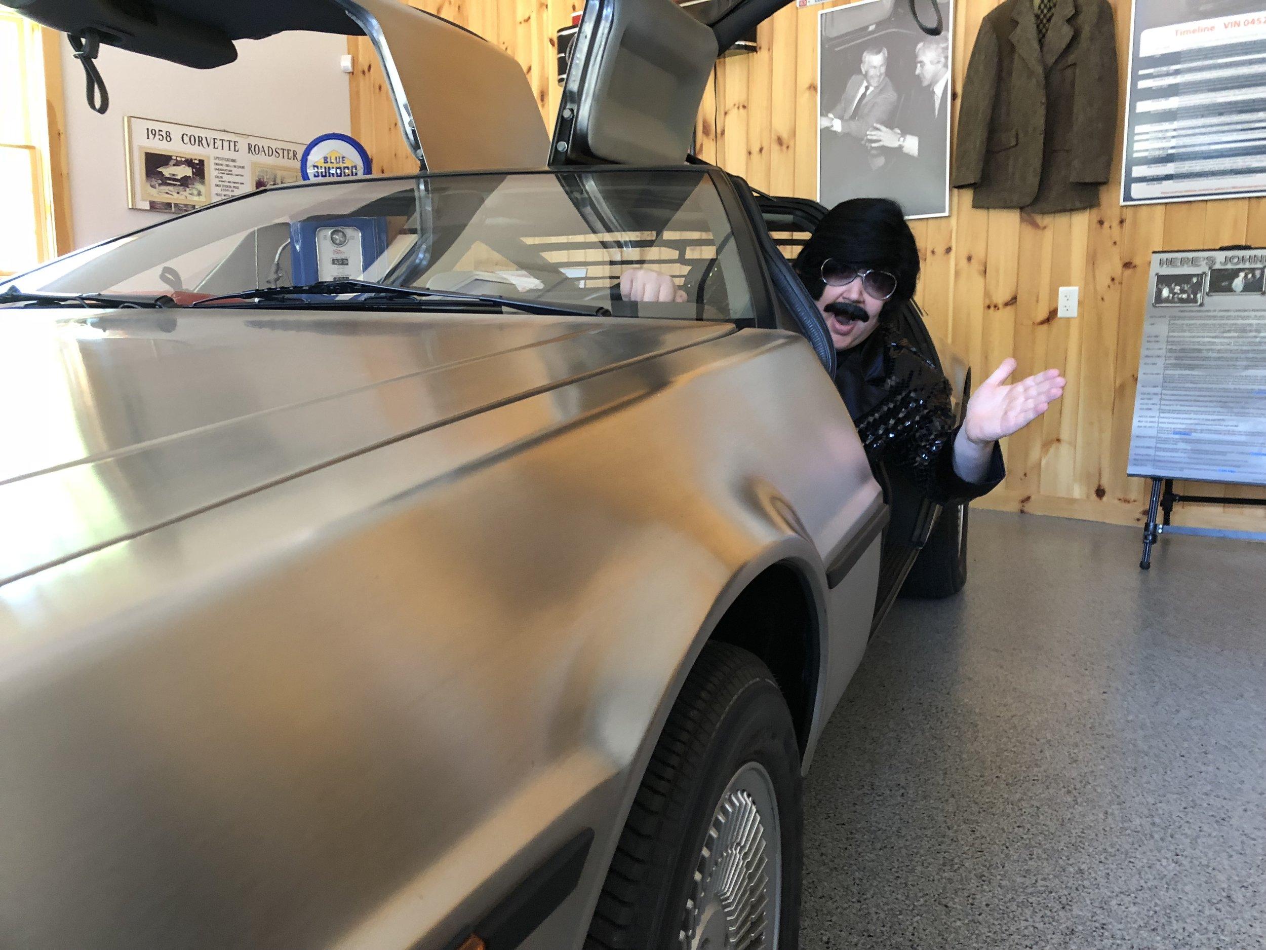 Inside Johnny Carson's DeLorean
