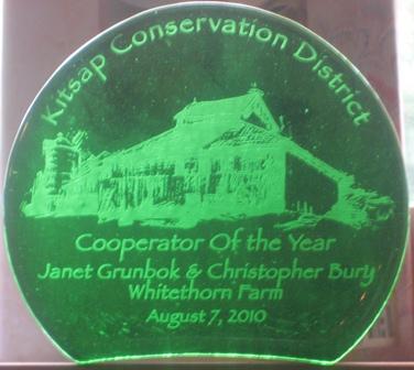 Kitsap Conservation District award.
