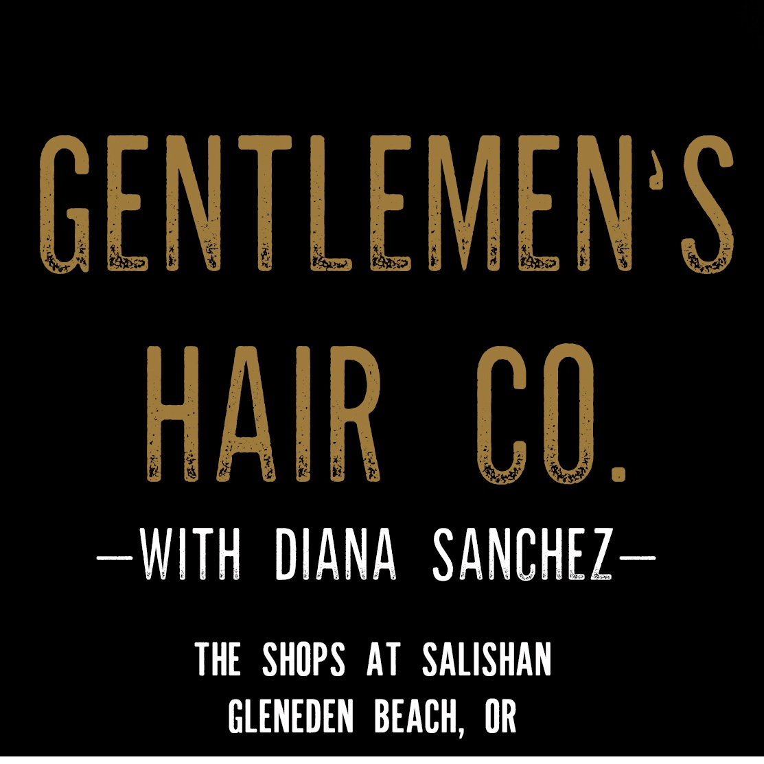 Gentlemen's Hair Co. - We are a small men's hair shop located on the Oregon Coast in Gleneden Beach, OR.