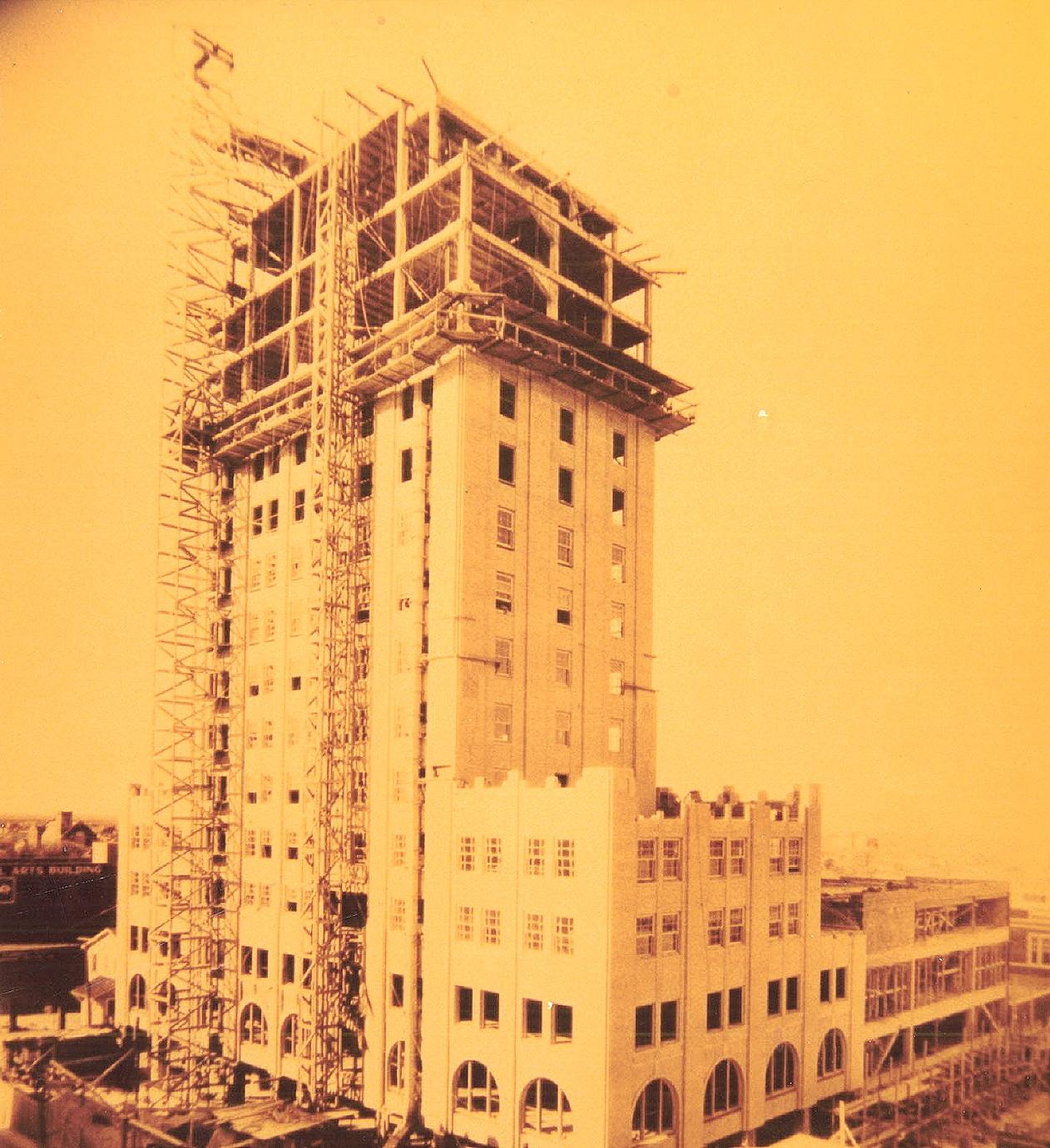 Wooten hotel construction (1929)