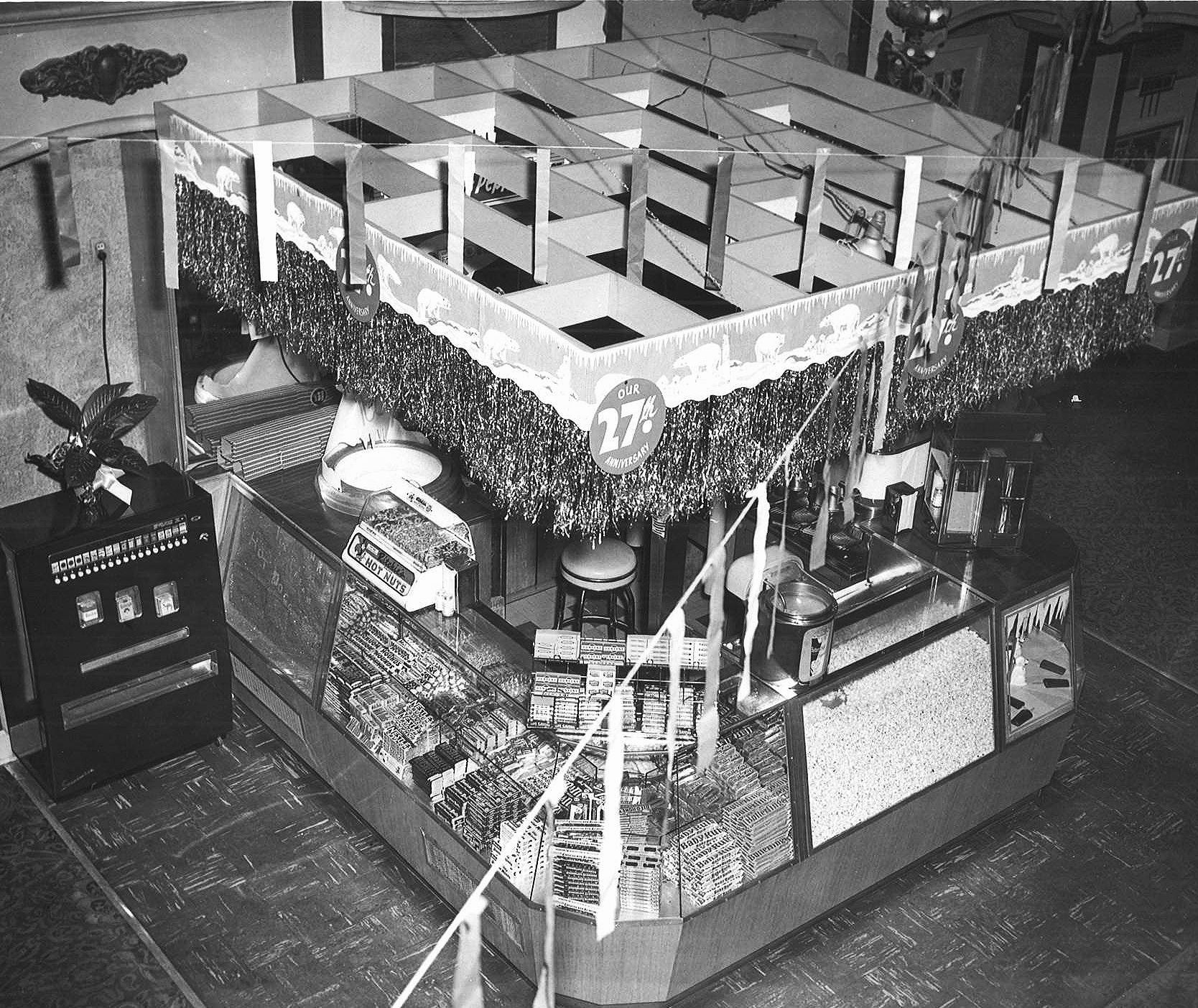 LOBBY CONCESSIONS STAND, 1951