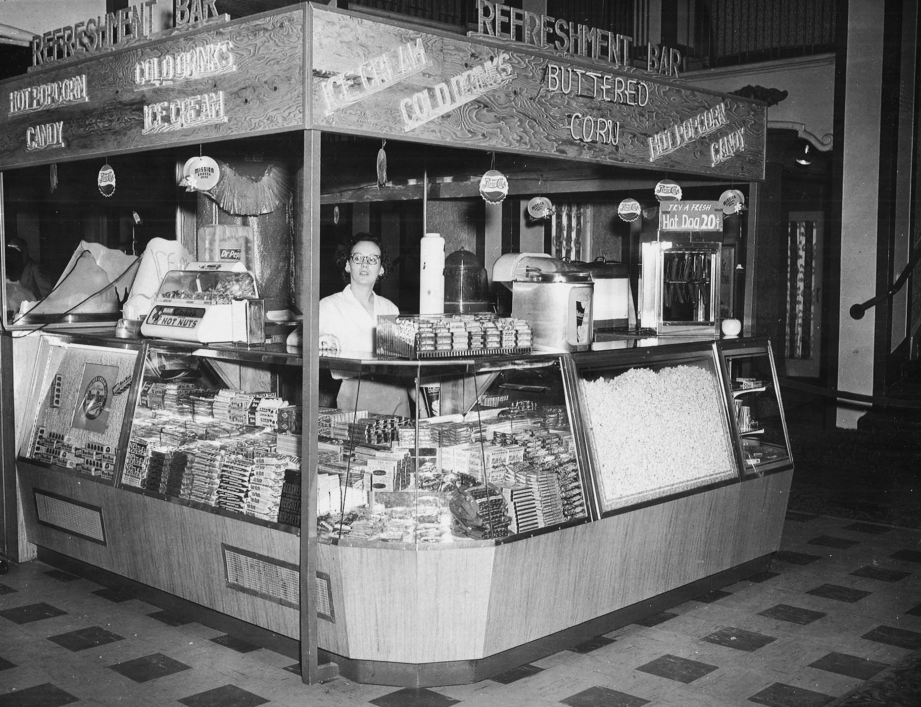 LOBBBY CONCESSION STAND (1950s)