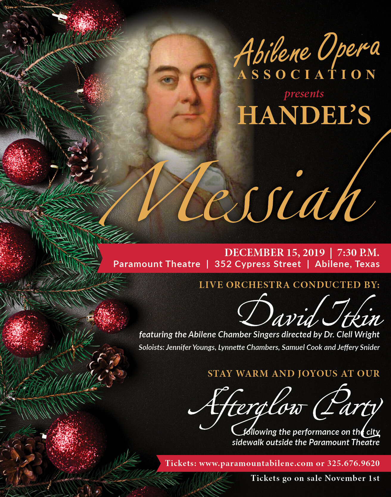 Handles Messiah Christmas Day 2020 ABILENE OPERA ASSOCIATION PRESENTS  MESSIAH — The Historic