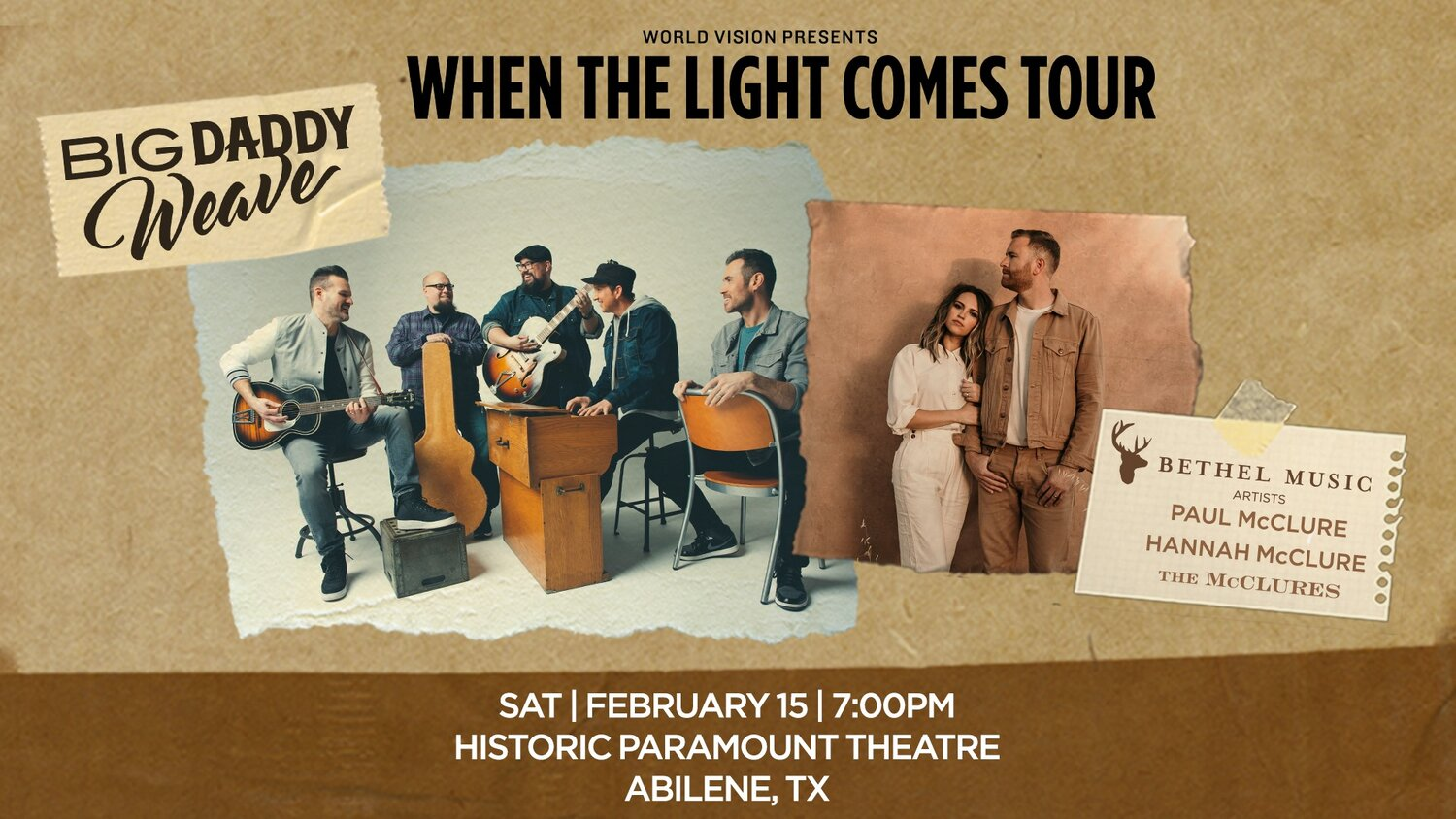 Big Daddy Weave When The Light Comes Tour The Historic