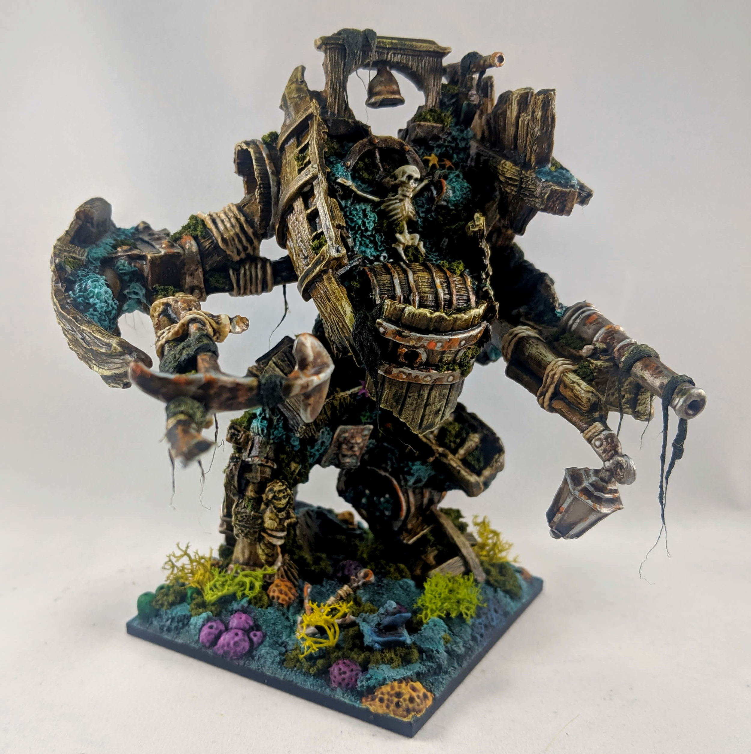 Shipwreck Golem - Originally inspired by a miniature Josh painted, this little baddie is a deadly undersea opponent for your players.
