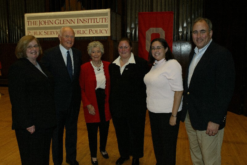 My family and me with Senator John Glenn and Annie Glenn after his lecture which I planned and executed.