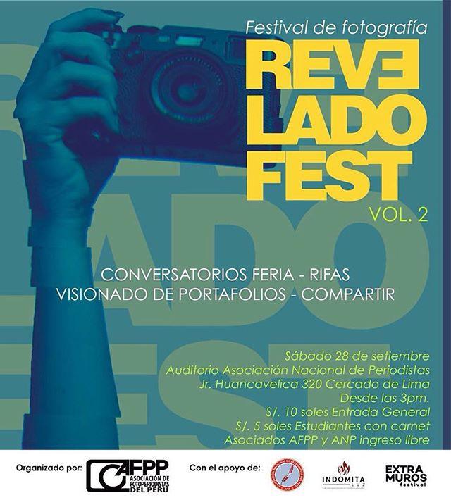Este sábado 28 de setiembre, estaremos participando en el  #ReveladoFest Vol. 2 proyectando los trabajos de las autoras de #MIRARFUEGO. . La cita es desde las 3 de la tarde en el auditorio principal de la Asociación Nacional de Periodistas del Perú en Jirón Huancavelica 320, Cercado de Lima.