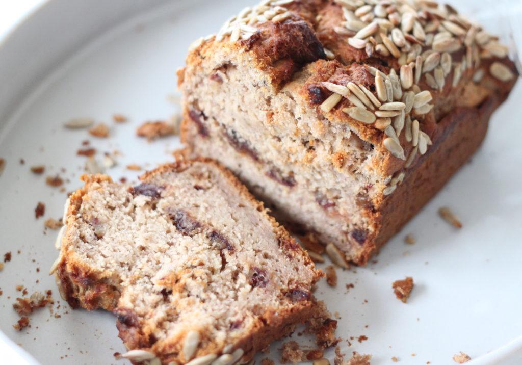date chestnut banana bread