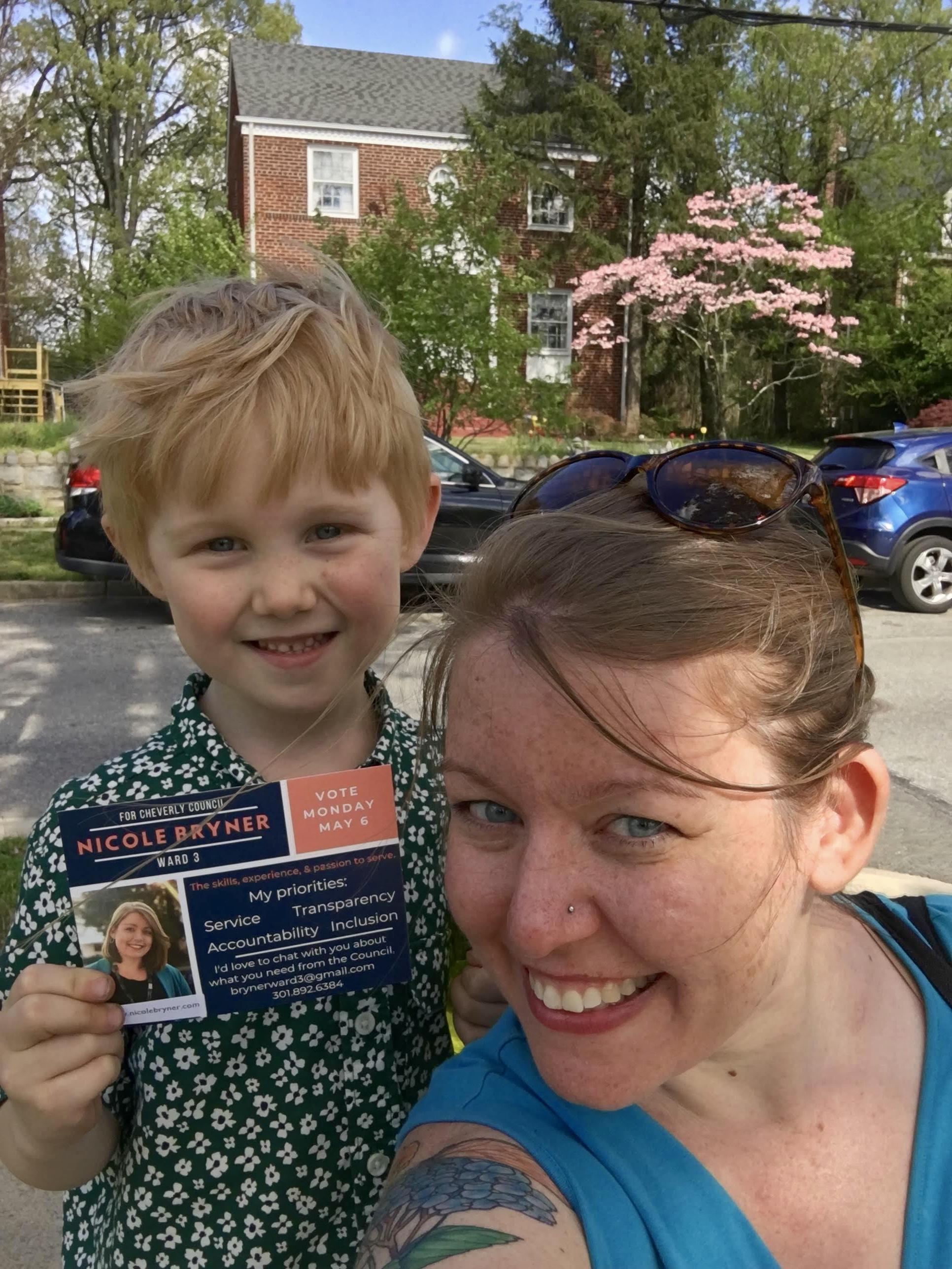 Me and my favorite doorknocking volunteer!