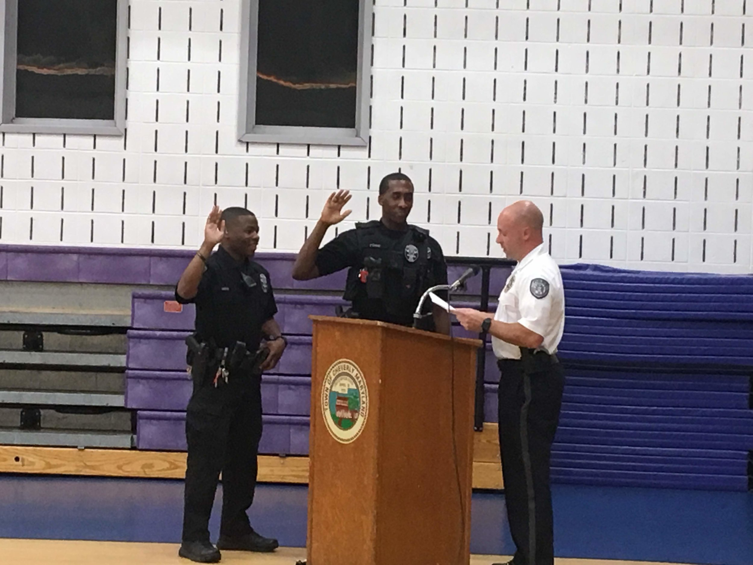 Congrats to Officers Ford and Keene who were sworn in at our meeting last week!