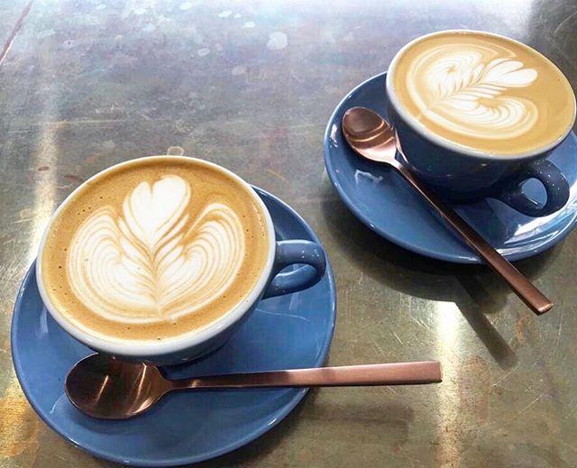 """Coffee's up, please!"" • • • • • #bloc145 #eat #restaurant #cafe #coffee #specialty #brunch #foodie #food #breakfast #lunch #allday #Redfern #Sydney #sydneybrunch #sydneycoffee #coffeesydney #specialtycoffee #flatwhite #latte #latteart #rosetta #coffeesup #saturday"