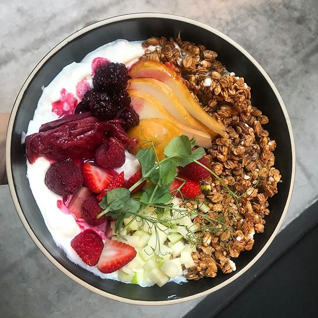 If you're feeling like a sweet breakfast, our Granola Bowl is the way to go! • • • • • #bloc145 #eat #restaurant #cafe #coffee #specialty #brunch #foodie #food #breakfast #lunch #allday #Redfern #Sydney #sydneybrunch #specialtycoffee #cheese #granola #hungry #redfernbrunch #brunchinsydney #normalday #yoghurt #granolabowl