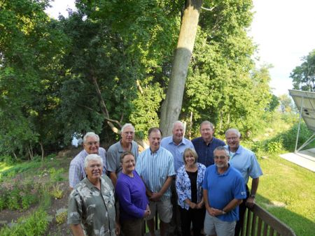 In December, 2010, the Alliance Board met for the first time. The founding Board members, pictured in the back row, were Phil Cianciotto (Seneca Lake Pure Waters Association), Jim Barre (formerly of Keuka Lake Association), Bill Ayling (Otisco Lake Association) James Beckwith (Owasco Watershed Lake Association), George Coolbaugh (Conesus Lake Association), and Jack Schickler (Conesus Lake Association). In the front row is Hugh Turner (Honeoye Valley Association), Hilary Lambert (Cayuga Lake Watershed Network), Lynn Thurston (Canandaigua Lake Watershed Association) and Mark Morris (Keuka Lake Association). Missing from the photo is Robert Werner (Skaneateles Lake Association).