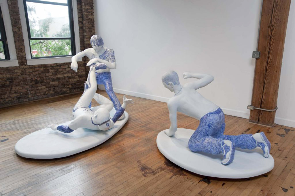 Blue Meanies, installation view, Western Exhibitions