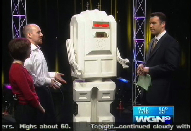 The Nuptron garnered  local TV news coverage  in Chicago and northeastern Iowa (where Stone and his wife were married).
