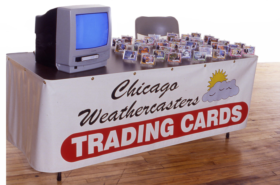 Each set includes 20 trading cards of Chicago TV weathercasters circa 1997.