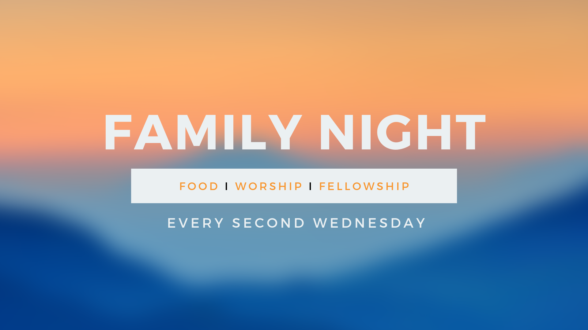 Wednesday Night Live - Join The SFBC community every second Wednesday of the month at 6:00pm for dinner and then dive into worship and listen to a meaning full message.