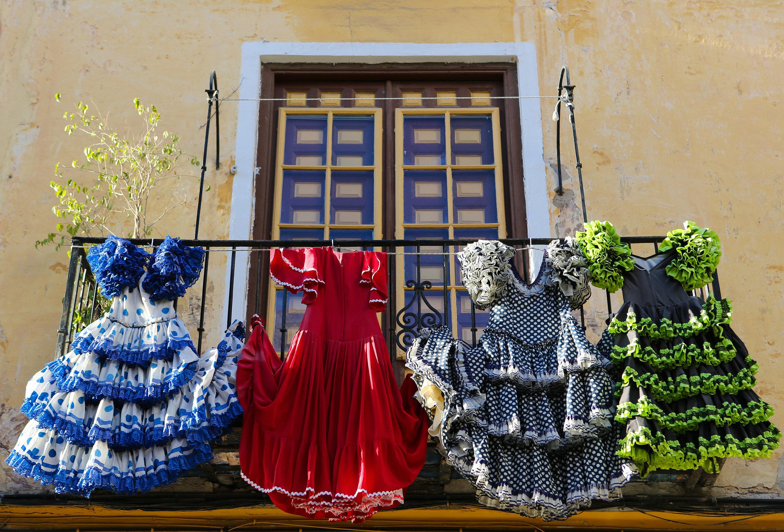 Traje típico de flamenca
