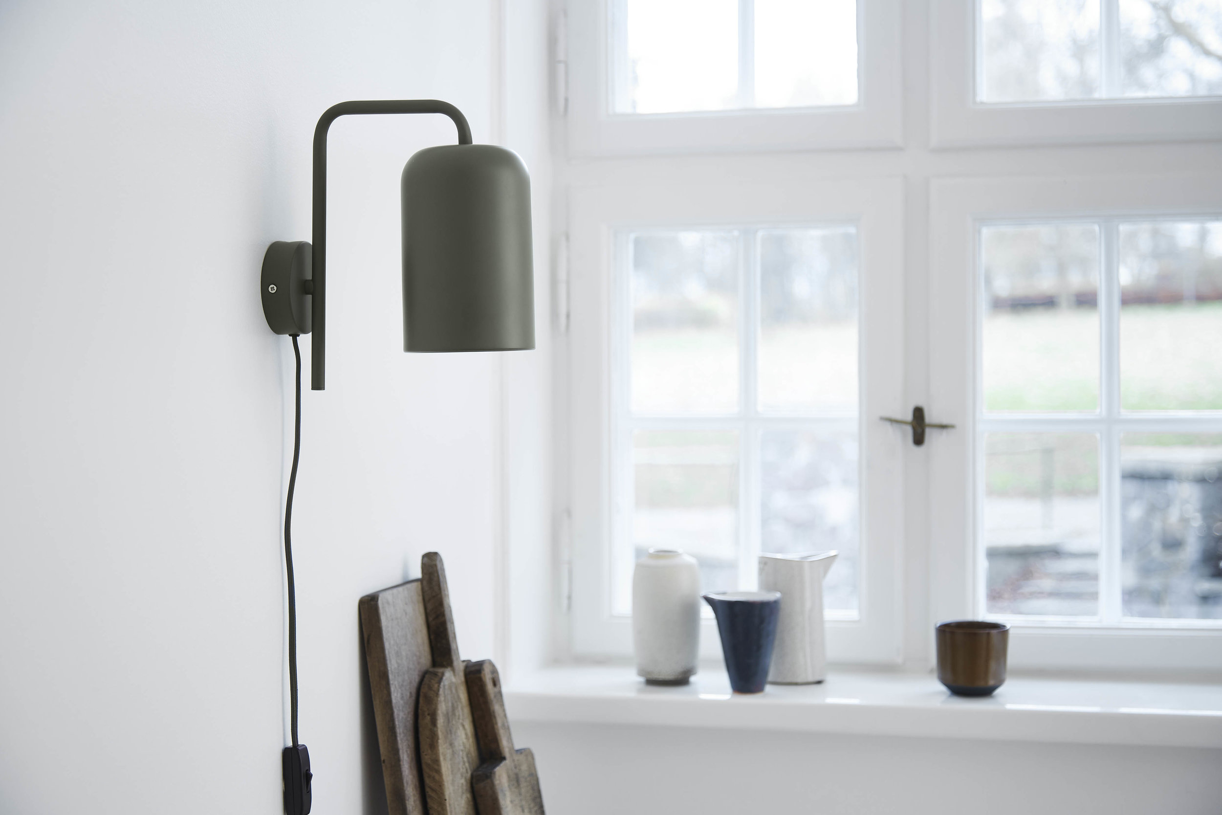 Chill wall lamp green matt - lifestyle Teglgaardsvej 4303.jpg
