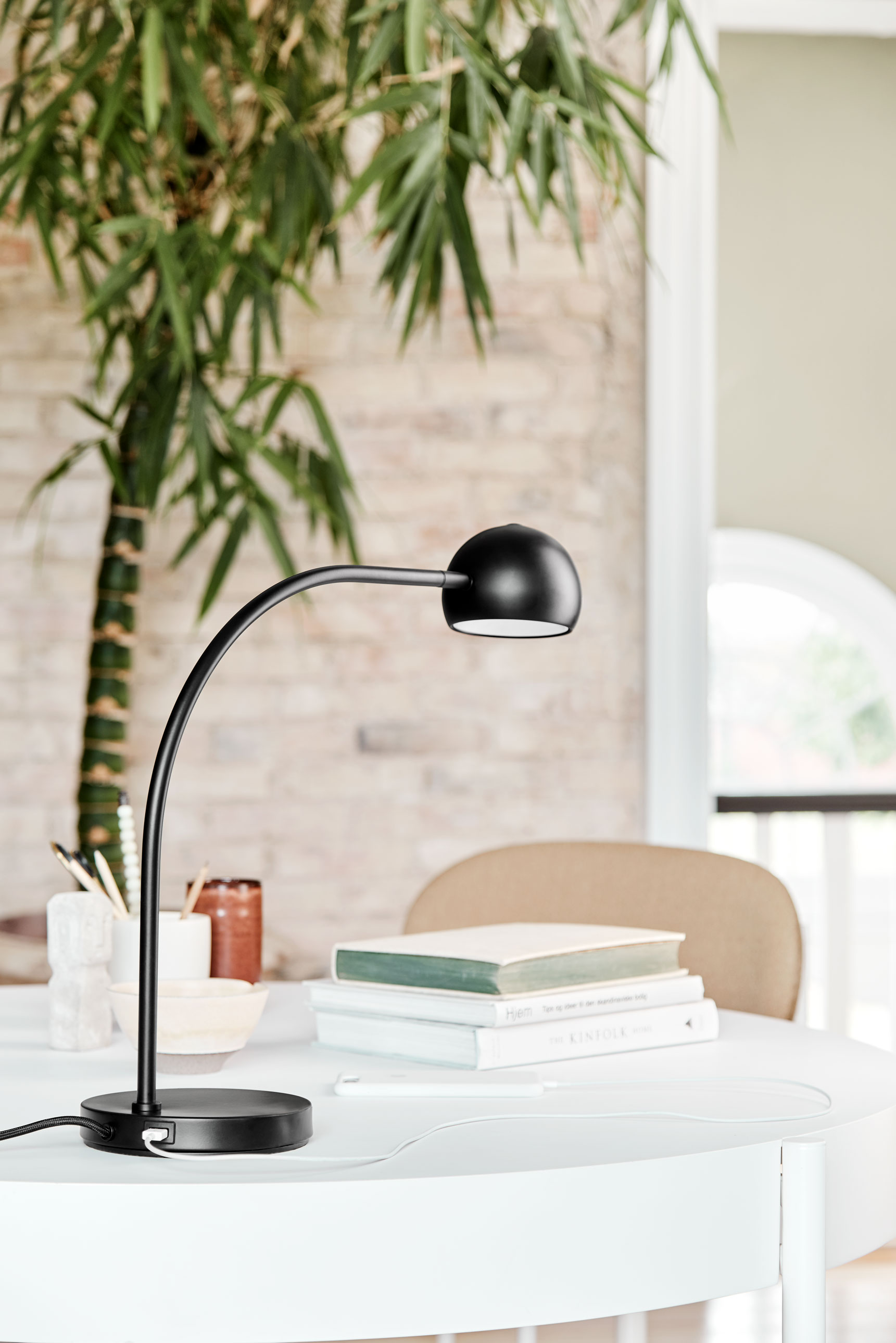 A year after the iconic Ball Lamp celebrated its 50th birthday, the familiar ball-shaped shade is set to occupy your desktop. And with its LED bulb and USB charger, it is even younger and more topical than ever.   READ