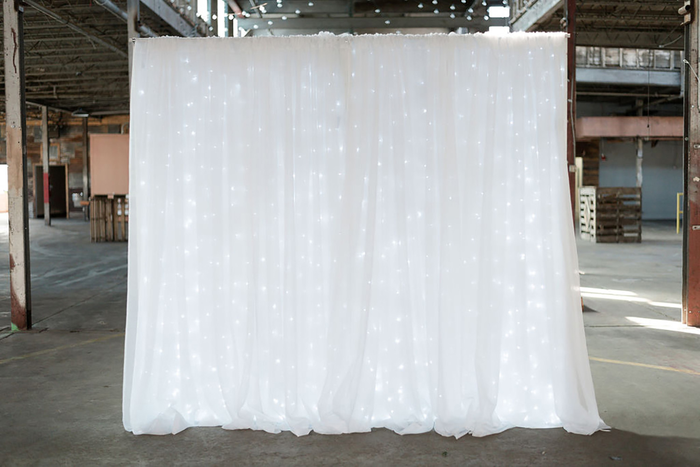 White Light Wall Backdrop