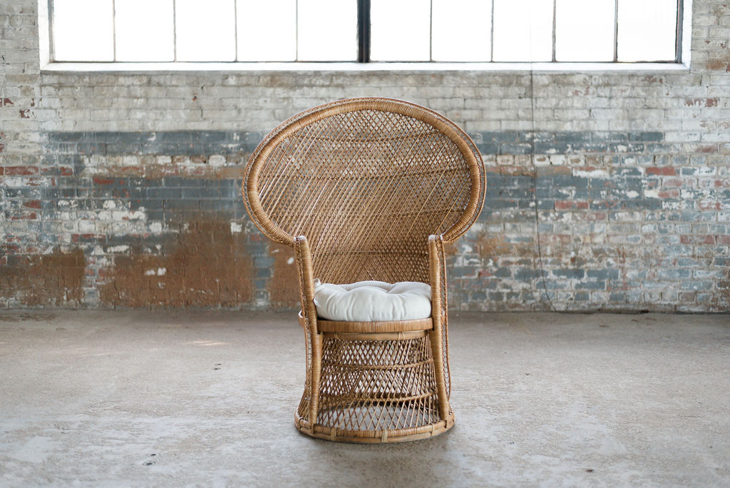 Boho Princess - Wicker Peacock Chair