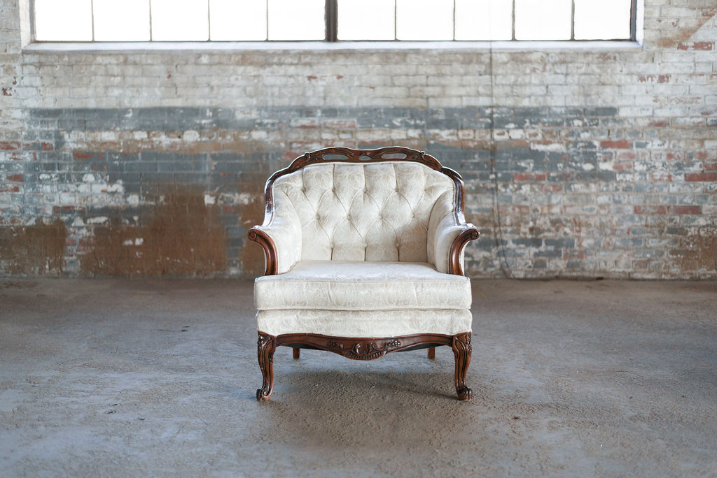 Lindsay Armchair in Ivory Tuft
