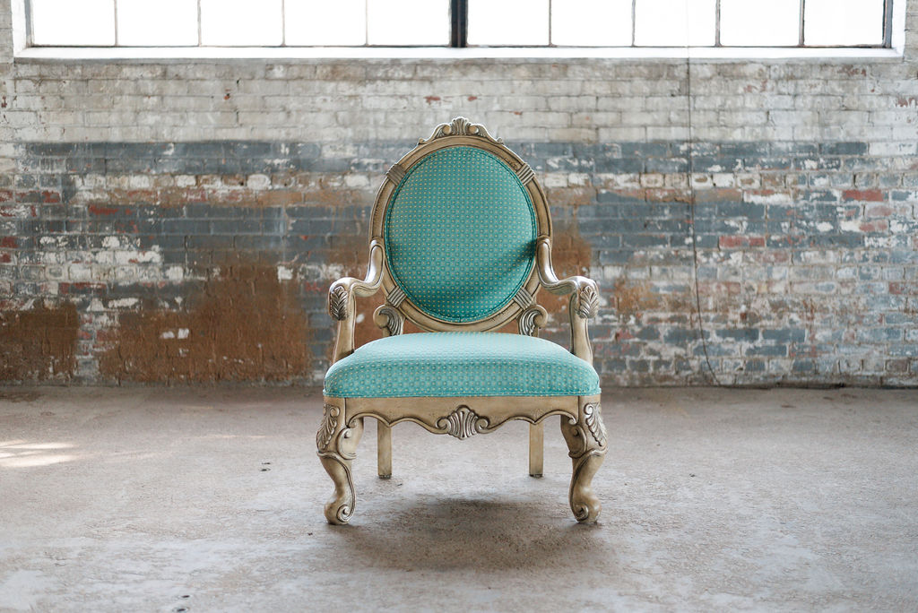 Nick Armchair in Turquoise