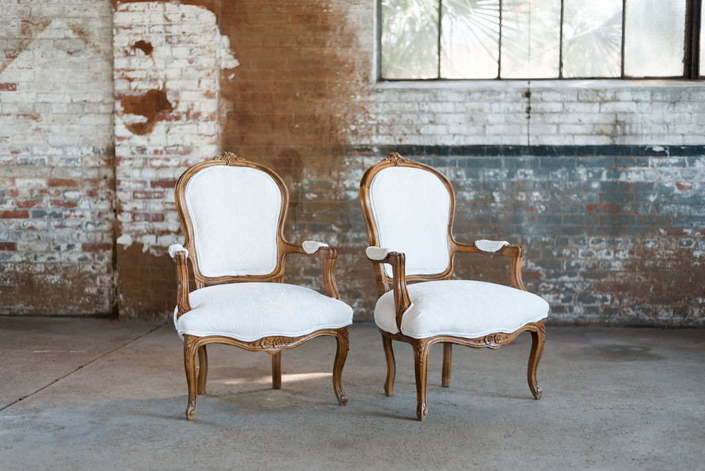 The Arthur Armchairs in White