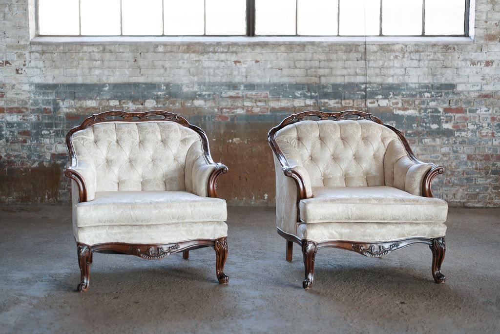 The Lindsays Armchairs in Ivory Tuft