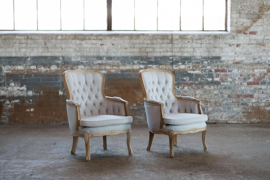 The Renees - Armchair in Lavender Grey