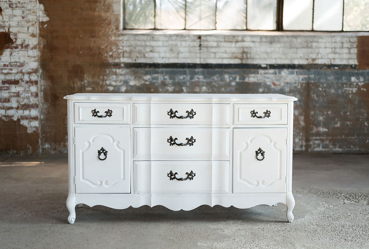 Bridget Buffet Dresser in White