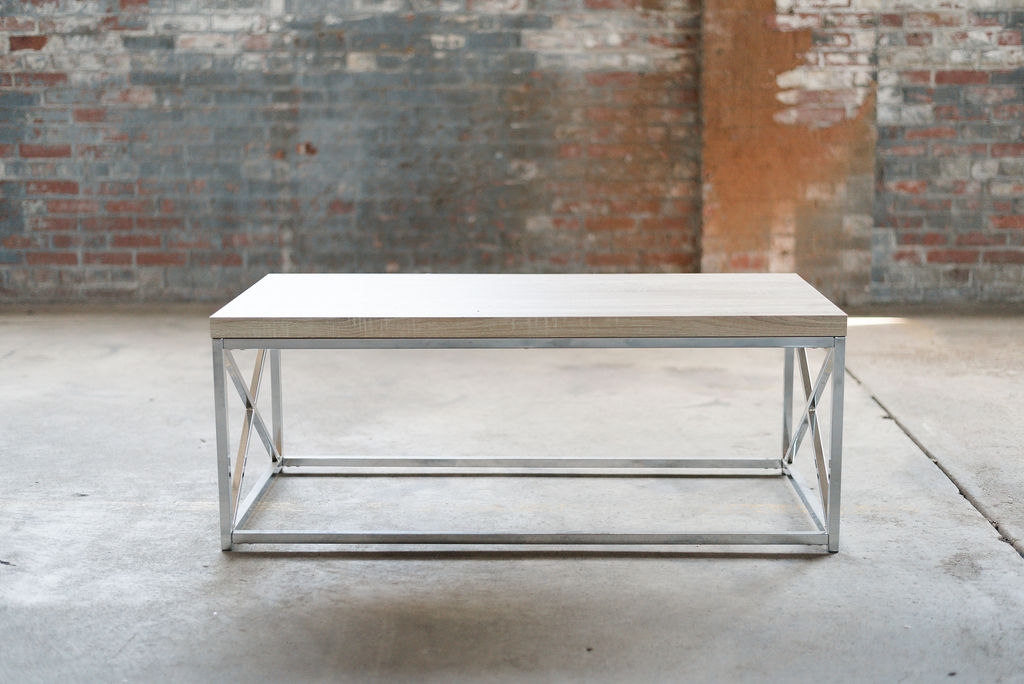 Key West Coffee Tables - Wood + Silver