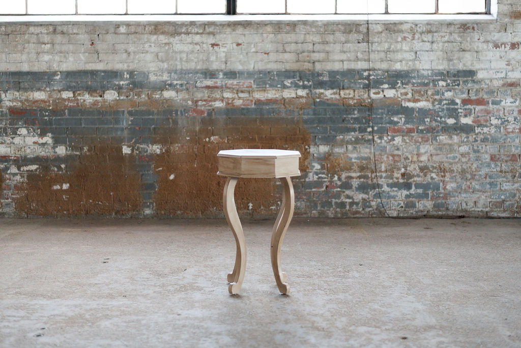 Oliver End Table - Cream